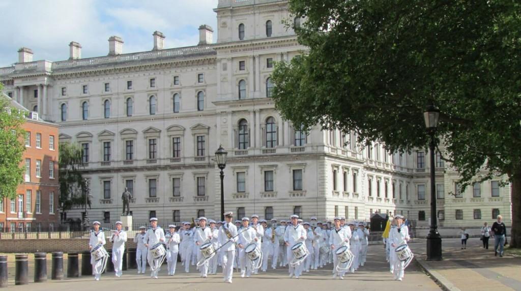 Marinens Ungdomsmusikkår vid Horse Guard Parade