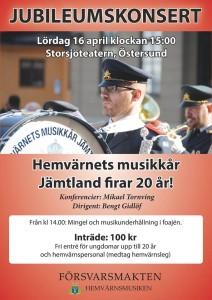 Hvmk Jämtland jubileumskonsert 2016